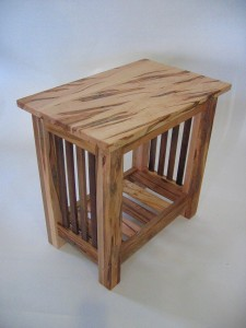 End Table - Wormy Maple Magazine Rack & Pickets