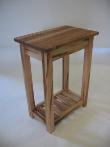 End Table Wormy Maple Magazine Rack